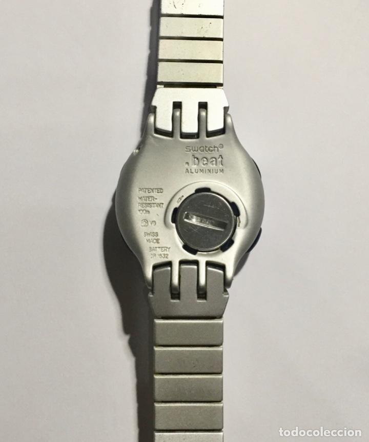 Relojes - Swatch: SWATCH BEAT ALUMINIUM CAL.ETA V8 - PULSERA MAX 180 M/M.EXTENSIBLE 2 M/M. MÁS. - Foto 4 - 146578106