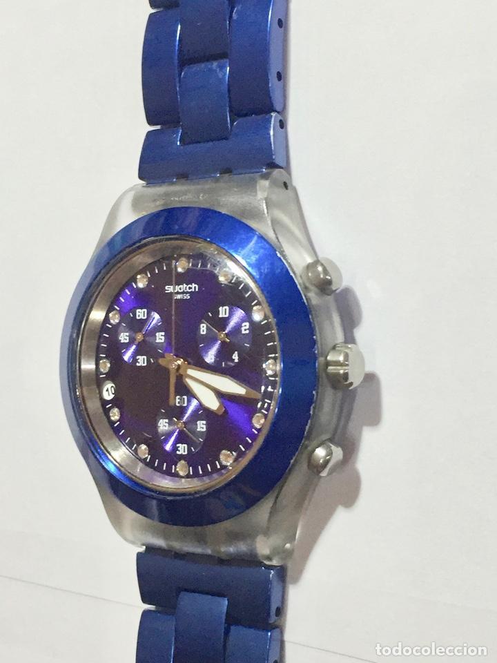 Relojes - Swatch: SWATCH IRONY DIAPHANE, CRONOGRAFO,TAPA DE ALUMINIUM CAL. ETA. 45,4 M/M. PULSERA MAX 180 M/M. - Foto 4 - 146620070