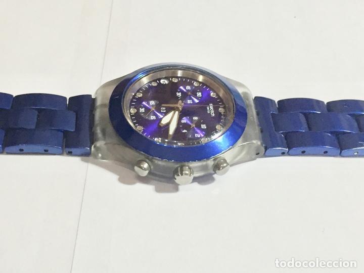 SWATCH IRONY DIAPHANE, CRONOGRAFO,TAPA DE ALUMINIUM CAL. ETA. 45,4 M/M. PULSERA MAX 180 M/M. (Relojes - Relojes Actuales - Swatch)