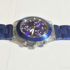 Relojes - Swatch: SWATCH IRONY DIAPHANE, CRONOGRAFO,TAPA DE ALUMINIUM CAL. ETA. 45,4 M/M. PULSERA MAX 180 M/M.. Lote 146620070