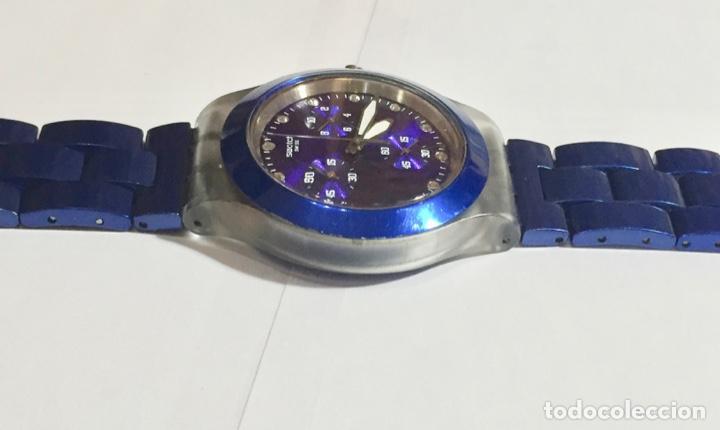 Relojes - Swatch: SWATCH IRONY DIAPHANE, CRONOGRAFO,TAPA DE ALUMINIUM CAL. ETA. 45,4 M/M. PULSERA MAX 180 M/M. - Foto 5 - 146620070