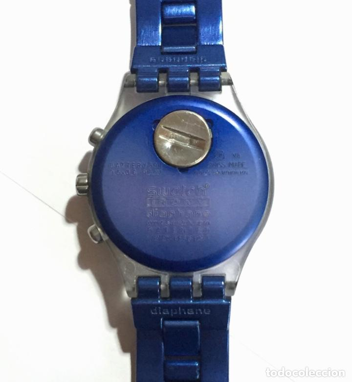 Relojes - Swatch: SWATCH IRONY DIAPHANE, CRONOGRAFO,TAPA DE ALUMINIUM CAL. ETA. 45,4 M/M. PULSERA MAX 180 M/M. - Foto 6 - 146620070
