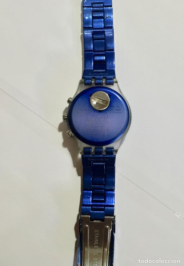 Relojes - Swatch: SWATCH IRONY DIAPHANE, CRONOGRAFO,TAPA DE ALUMINIUM CAL. ETA. 45,4 M/M. PULSERA MAX 180 M/M. - Foto 7 - 146620070