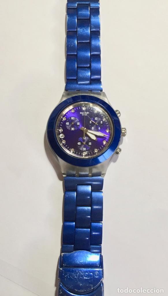 Relojes - Swatch: SWATCH IRONY DIAPHANE, CRONOGRAFO,TAPA DE ALUMINIUM CAL. ETA. 45,4 M/M. PULSERA MAX 180 M/M. - Foto 3 - 146620070