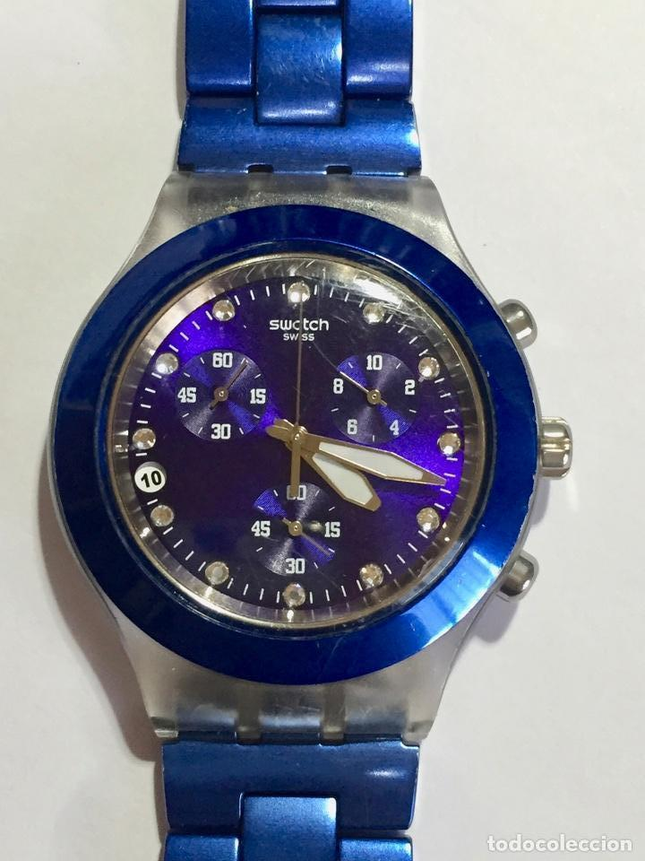 Relojes - Swatch: SWATCH IRONY DIAPHANE, CRONOGRAFO,TAPA DE ALUMINIUM CAL. ETA. 45,4 M/M. PULSERA MAX 180 M/M. - Foto 2 - 146620070