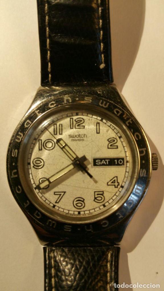 RELOJ SWATCH IRONY, PULSERA DE PIEL - R4 (Relojes - Relojes Actuales - Swatch)