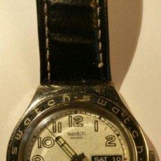 Relojes - Swatch: RELOJ SWATCH IRONY, PULSERA DE PIEL - R4. Lote 146924018