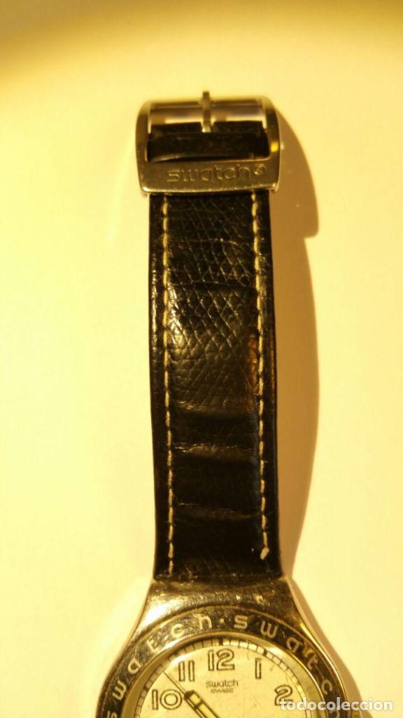 Relojes - Swatch: RELOJ SWATCH IRONY, PULSERA DE PIEL - R4 - Foto 2 - 146924018