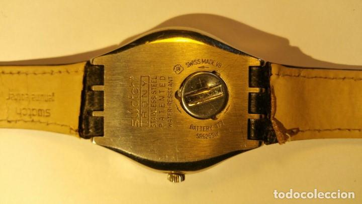 Relojes - Swatch: RELOJ SWATCH IRONY, PULSERA DE PIEL - R4 - Foto 4 - 146924018