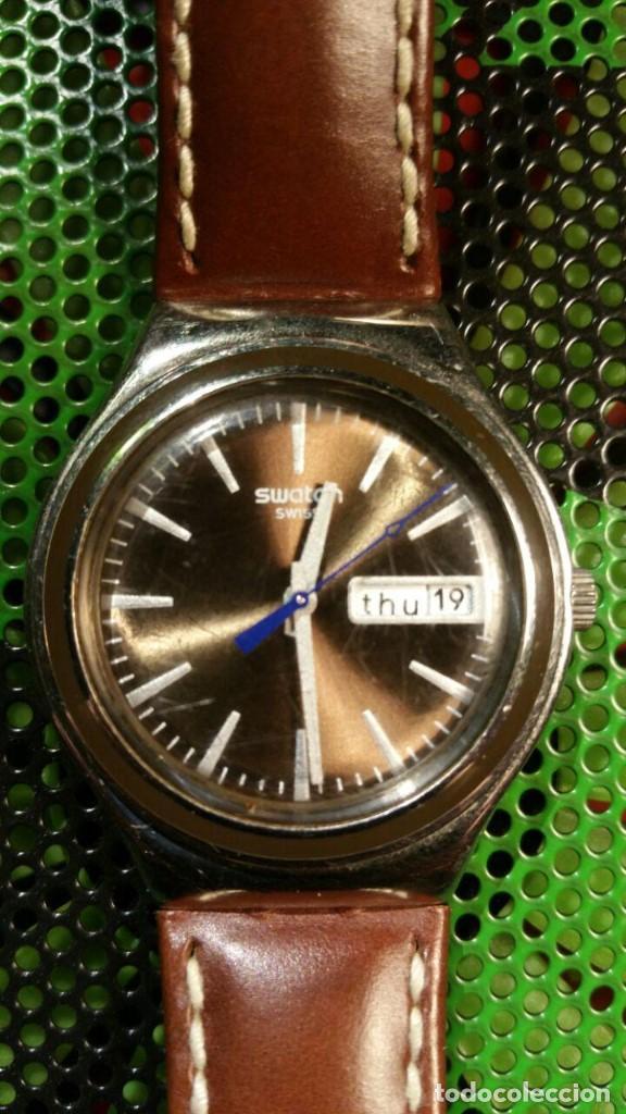 IronyPulsera Reloj Piel De Swatch R5 TFJl1cK3