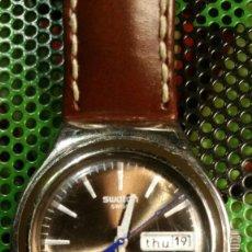 Relojes - Swatch: RELOJ SWATCH IRONY, PULSERA DE PIEL - R5. Lote 146924430