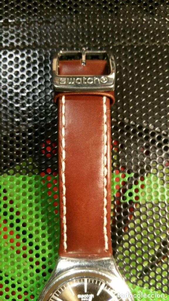 Relojes - Swatch: RELOJ SWATCH IRONY, PULSERA DE PIEL - R5 - Foto 2 - 146924430