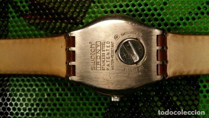Relojes - Swatch: RELOJ SWATCH IRONY, PULSERA DE PIEL - R5 - Foto 5 - 146924430