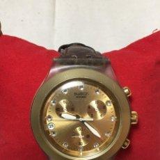 Relojes - Swatch: RELOJ DE PULSERA SWATCH SWISS IRONY DIAPHANE ALUMINIUM - CRONONOGRAFO Y CALENDARIO - FUNCIONANDO. Lote 147334338