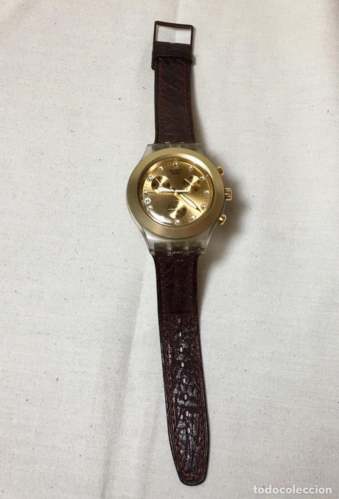 Relojes - Swatch: Reloj de pulsera Swatch Swiss Irony Diaphane aluminium - Crononografo y calendario - Funcionando - Foto 3 - 147334338
