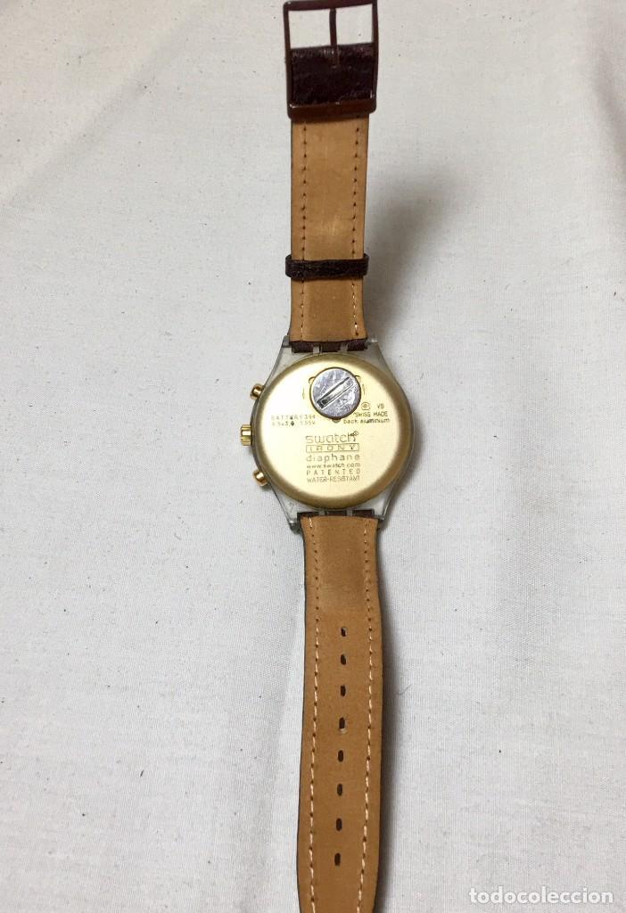 Relojes - Swatch: Reloj de pulsera Swatch Swiss Irony Diaphane aluminium - Crononografo y calendario - Funcionando - Foto 4 - 147334338