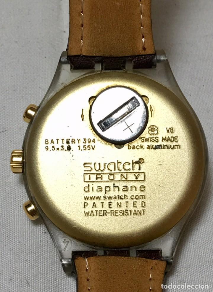 Relojes - Swatch: Reloj de pulsera Swatch Swiss Irony Diaphane aluminium - Crononografo y calendario - Funcionando - Foto 5 - 147334338