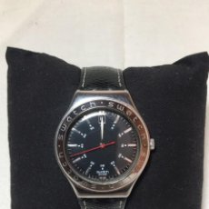 Relojes - Swatch: RELOJ SWATCH IRONY STAINLESS STEEL CON CORREA ORIGINAL - CALENDARIO - FUNCIONANDO. Lote 147335874