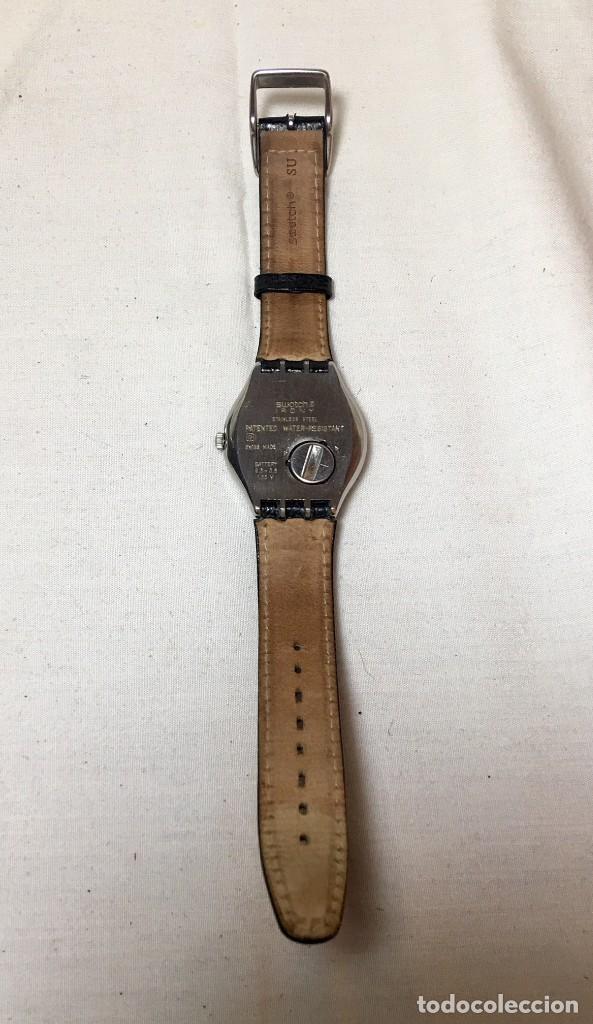 Relojes - Swatch: Reloj Swatch Irony Stainless Steel con correa original - Calendario - Funcionando - Foto 5 - 147335874