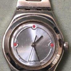 Relojes - Swatch: EXCELENTE RELOJ DE CUARZO DE LA MARCA SWATCH, CON CADENA DE ACERO Y CUERO. Lote 147458566