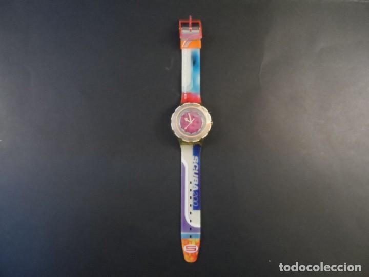 Relojes - Swatch: RELOJ SWATCH.MODELO SCUBA 200. QUARTZ. WATER RESISTANT 200 MTS. SIGLO XX - Foto 2 - 147587234
