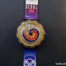 Relojes - Swatch: RELOJ SWATCH.MODELO SCUBA 200 SEUL 1988 QUARTZ. WATER RESISTANT 200 MTS. JUEGOS ATLANTA 1996. Lote 148343530