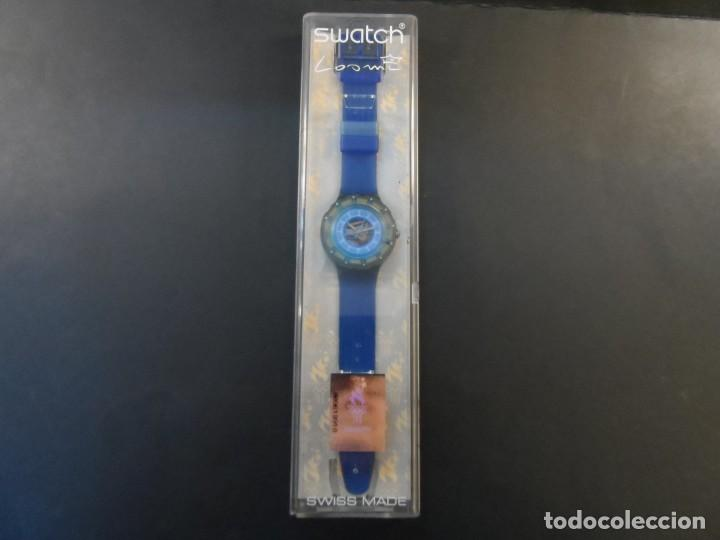 Relojes - Swatch: RELOJ SWATCH.MODELO SCUBA 200. ATLANTA 1996. QUARTZ. WATER RESISTANT 200 MTS. SIGLO XX - Foto 5 - 148345062
