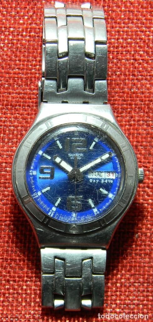 RELOJ MARCA SWATCH MODELO IRONY - STAINLESS STEEL - CABADELLO - SUIZO. NUMERADO. PARA PIEZAS (Relojes - Relojes Actuales - Swatch)