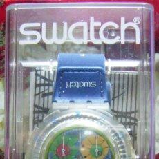Relojes - Swatch: RELOJ SWATCH.AQUACHRONO MODELO PARADISO PERDIDO SMALL AÑO 2000....NUEVO. Lote 152468582