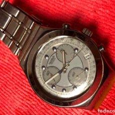 Relojes - Swatch: RELOJ CABALLERO 42MM EN ACERO FUNCIONANDO. CORREA SUELTA. Lote 152594886