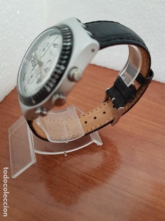 Relojes - Swatch: Reloj caballero SWATCH Irony crono de cuarzo Suizo correa negra, funcionando para su uso diario - Foto 4 - 154523210