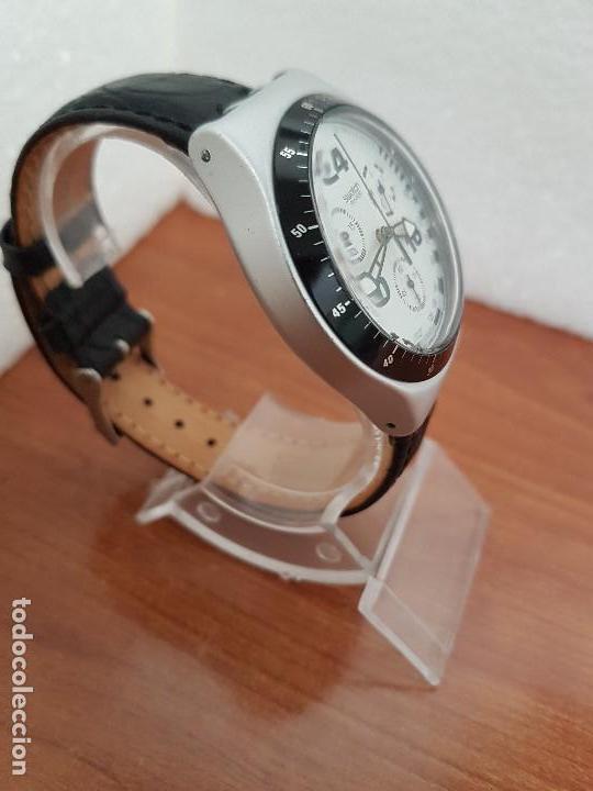 Relojes - Swatch: Reloj caballero SWATCH Irony crono de cuarzo Suizo correa negra, funcionando para su uso diario - Foto 5 - 154523210