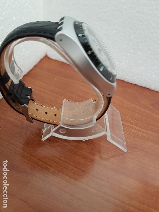 Relojes - Swatch: Reloj caballero SWATCH Irony crono de cuarzo Suizo correa negra, funcionando para su uso diario - Foto 6 - 154523210