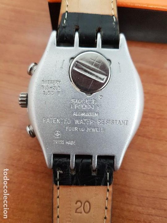 Relojes - Swatch: Reloj caballero SWATCH Irony crono de cuarzo Suizo correa negra, funcionando para su uso diario - Foto 9 - 154523210