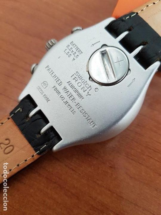 Relojes - Swatch: Reloj caballero SWATCH Irony crono de cuarzo Suizo correa negra, funcionando para su uso diario - Foto 11 - 154523210