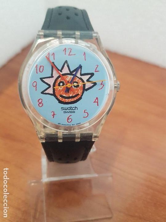 CentroCorrea En Original Azul RelojvintageSwatch Máquina Con VistaEsfera El Color Luna kZOXwPiluT