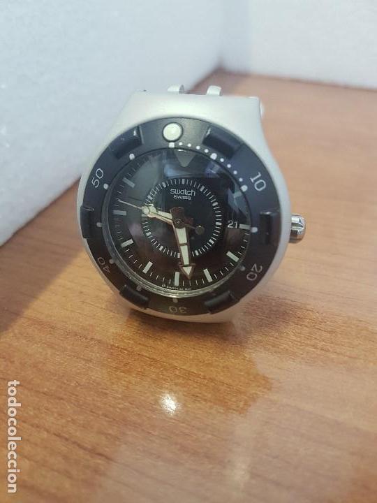 Relojes - Swatch: Reloj caballero (Vintage) SWATCH Iron y Scuba 200 de cuarzo con correa silicona no original Swatch - Foto 9 - 154623718