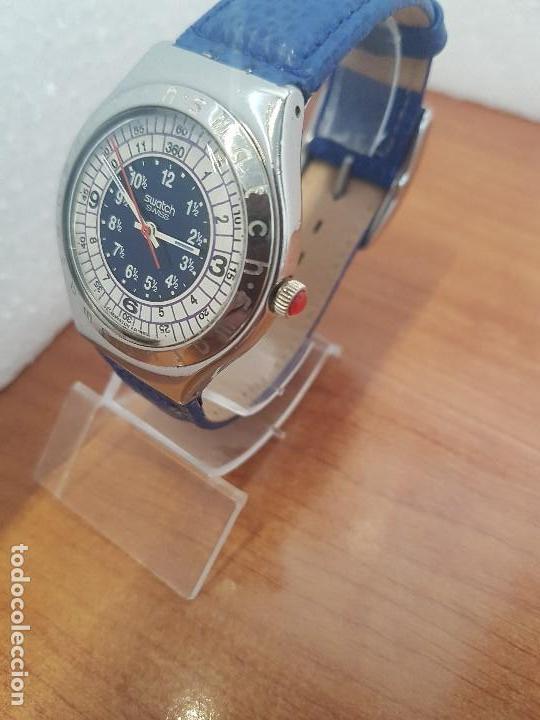 Relojes - Swatch: Reloj unisex SWATCH Irony de cuarzo Suizo correa original azul, funcionando para su uso diario - Foto 3 - 154775454