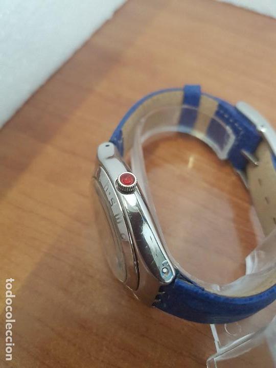 Relojes - Swatch: Reloj unisex SWATCH Irony de cuarzo Suizo correa original azul, funcionando para su uso diario - Foto 6 - 154775454