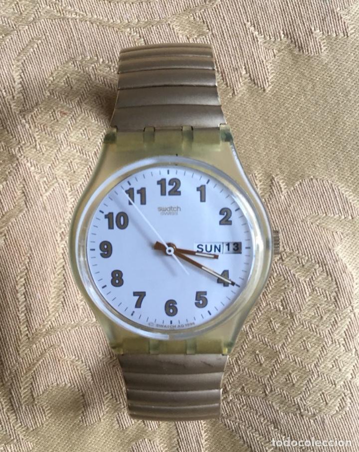 Reloj Doble Vintage Swatch Calendario Funciona TJclFK31u