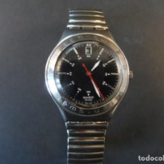 Relojes - Swatch: RELOJ CORREA ELASTICA Y CAJA ACERO SWATCH. MODELO IRONY. QUARTZ. WATER RESISTANT . SIGLO XX. Lote 155103778