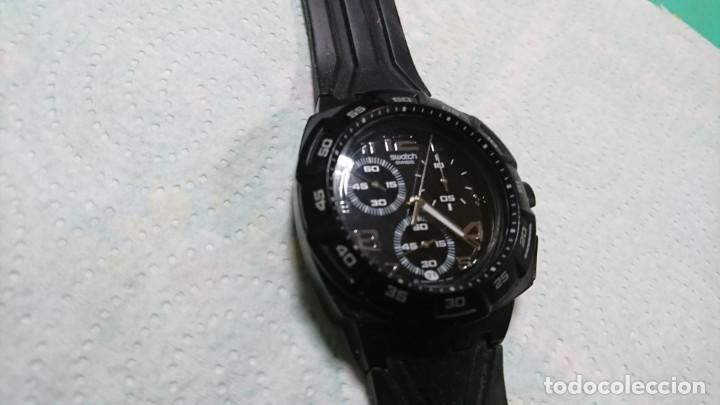 Relojes - Swatch: RELOJ SWATCH CON CRONÓMETRO ANALOGICO - Foto 4 - 156178090