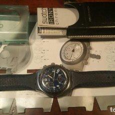 Relojes - Swatch: RELOJ SWATCH IRONY CHRONO CRONOGRAFO EN SU CAJA Y PAPELES ORIGINAL. Lote 156885438