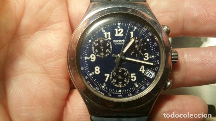 Relojes - Swatch: RELOJ SWATCH IRONY CHRONO CRONOGRAFO EN SU CAJA Y PAPELES ORIGINAL - Foto 2 - 156885438