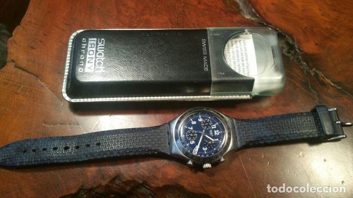 Relojes - Swatch: RELOJ SWATCH IRONY CHRONO CRONOGRAFO EN SU CAJA Y PAPELES ORIGINAL - Foto 10 - 156885438