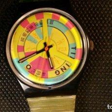 Relojes - Swatch: RELOJ SWATCH LETRAS CHINAS CORREA ROTA, QUARZ PARA COLECCIONISTAS.. Lote 159764446