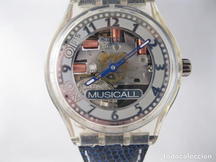Blue Rare Raro Vintage Extremely Swatch Through Musicall EbeHD29YIW