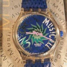 Relojes - Swatch: RELOJ SWATCH QUARTZ MUSICAL DESCATALOGADO - FONDO DE TIENDA. Lote 163049546