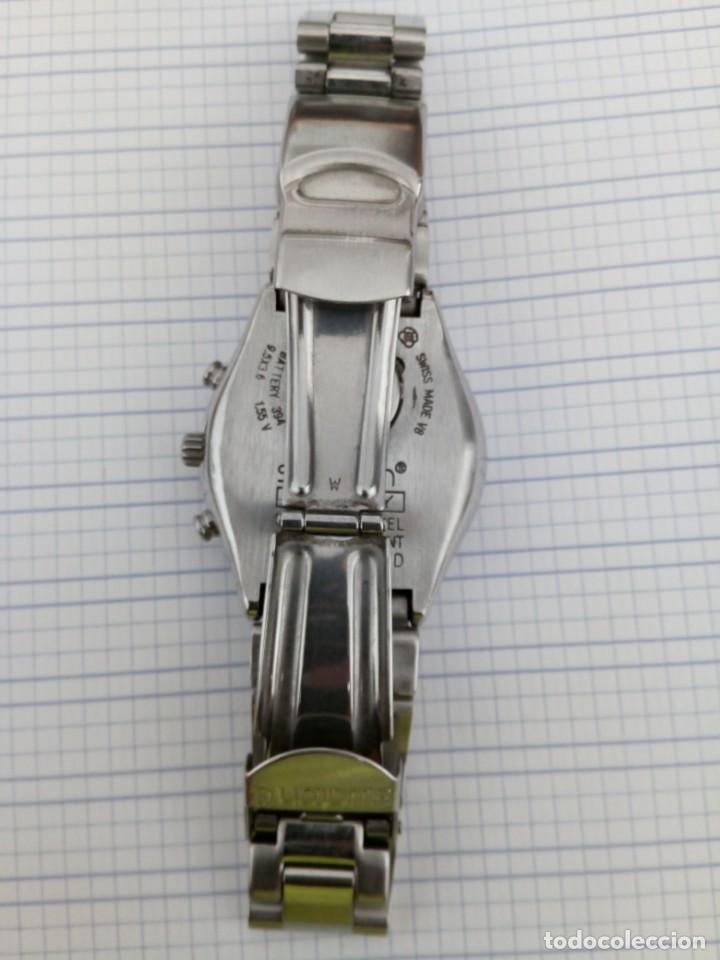 Relojes - Swatch: Cronografo Swatch esfera negra AG2000 todo acero inox funcionando reloj crono en buen estado - Foto 5 - 168259044