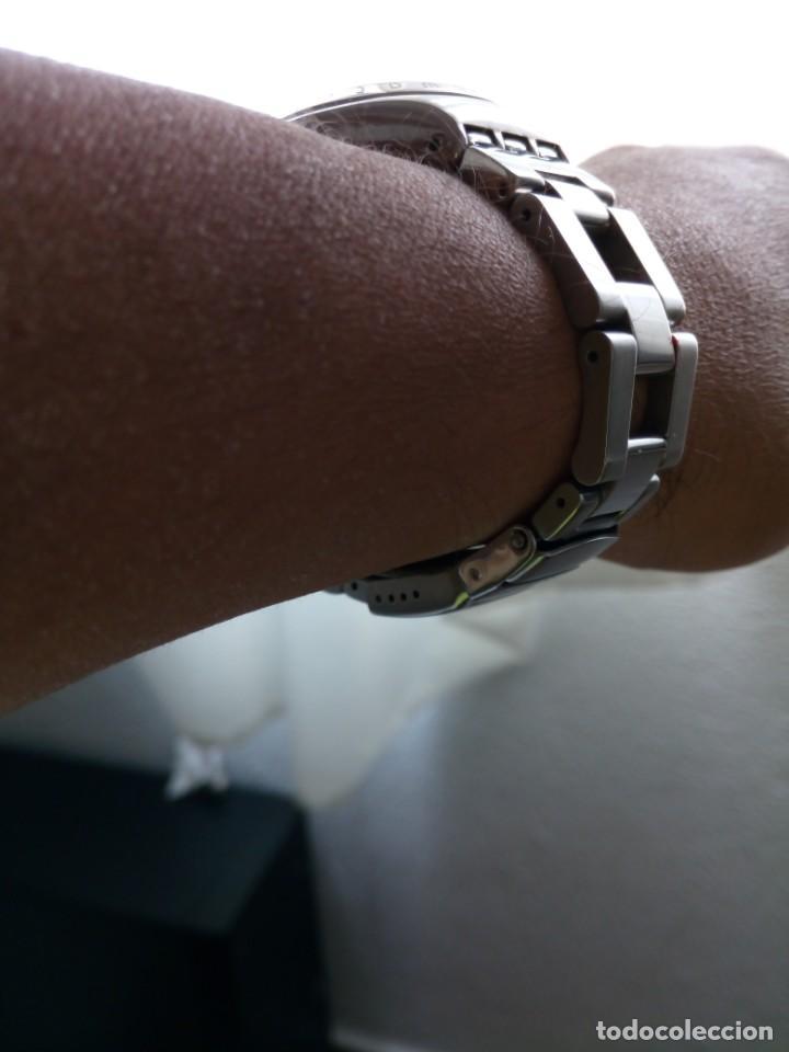 Relojes - Swatch: Cronografo Swatch esfera negra AG2000 todo acero inox funcionando reloj crono en buen estado - Foto 7 - 168259044